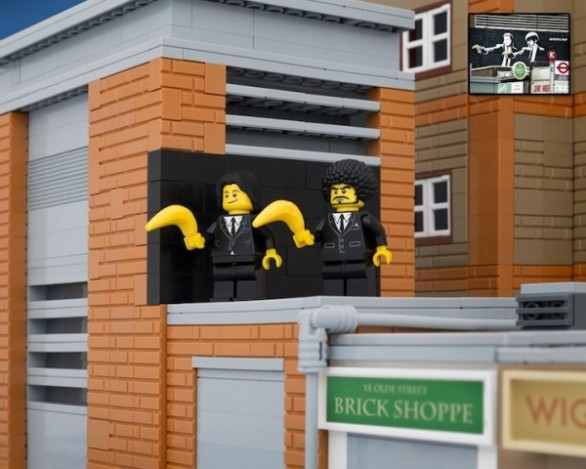 Banksy obra Pulp Fiction Lego
