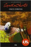 libros de misterio cinco cereditos agatha christie